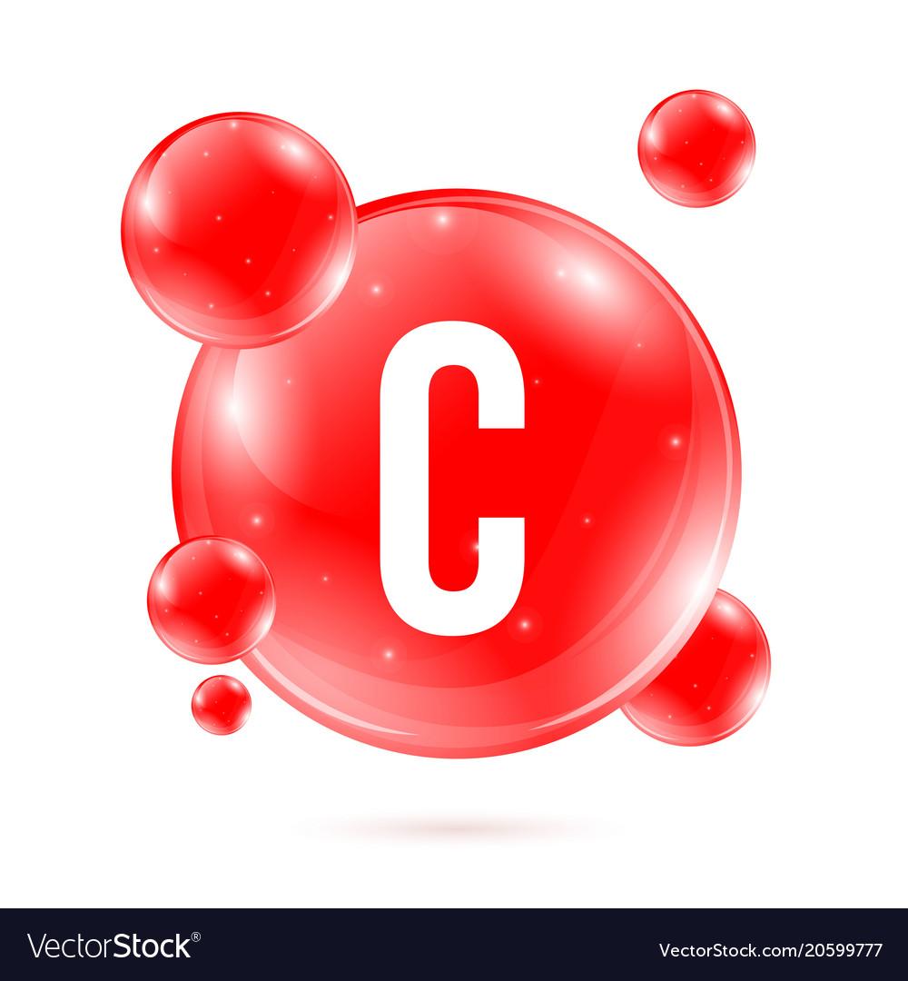 Creative Of Vitamin C Royalty Free Vector Image
