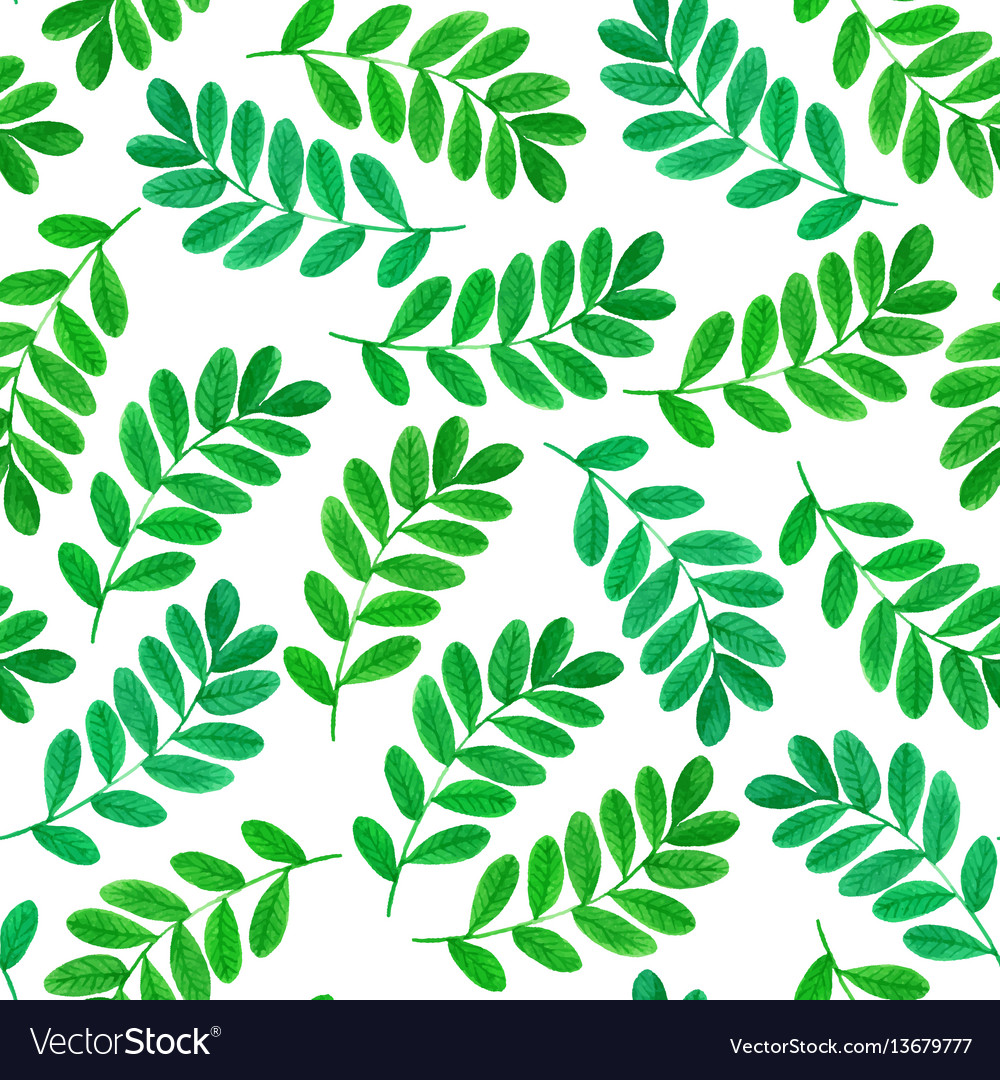 Floral seamless pattern with green leaves