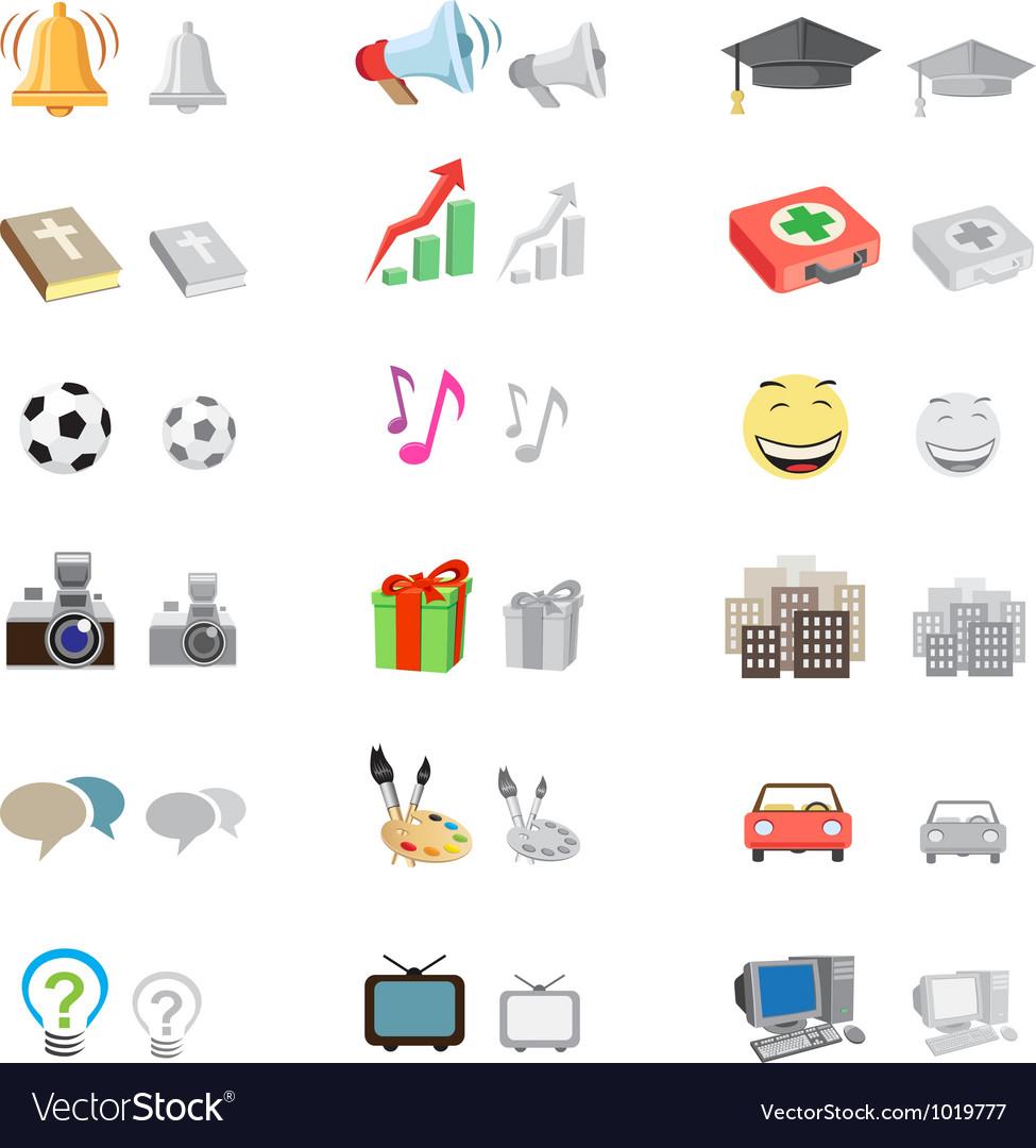 Forum icon set vector image