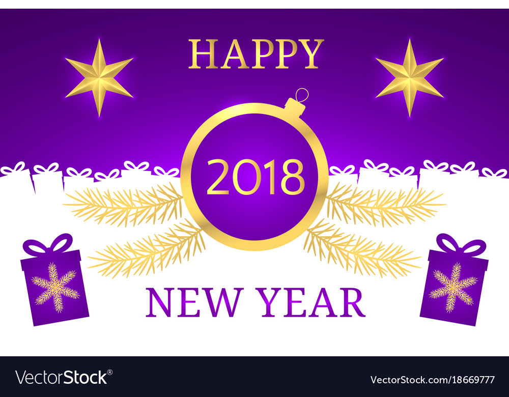 happy new year 2018 banner vector image