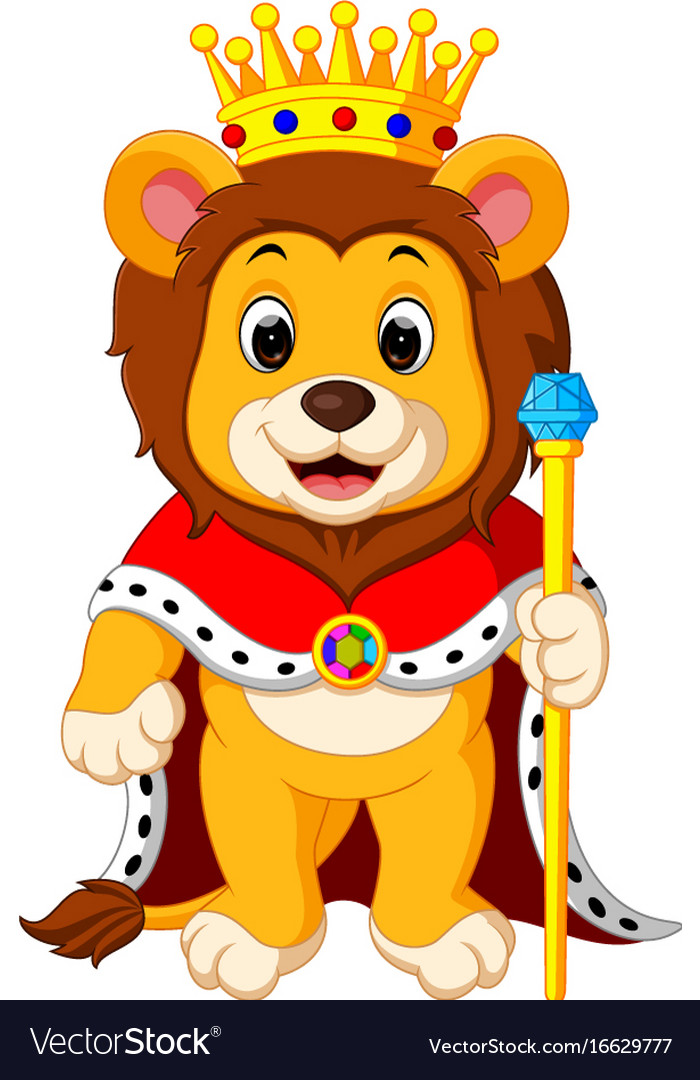 Lion with crown vector image