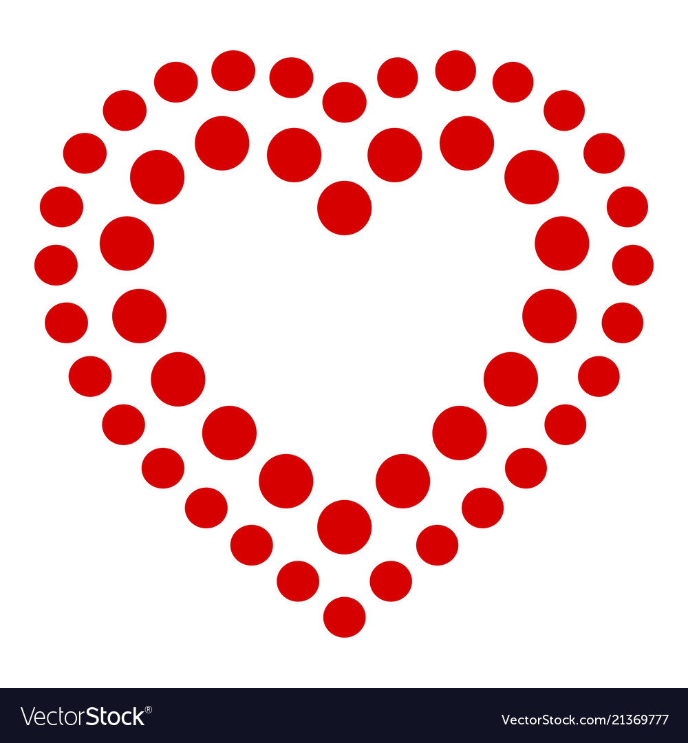 Points heart icon simple style