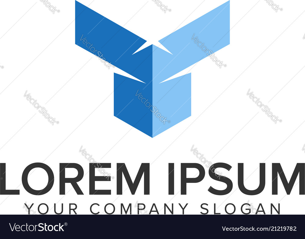 Abstract letter t construction logo design