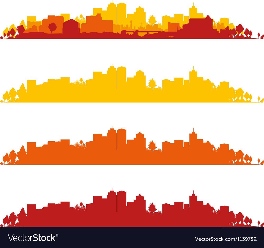 Cityscape wide vector image
