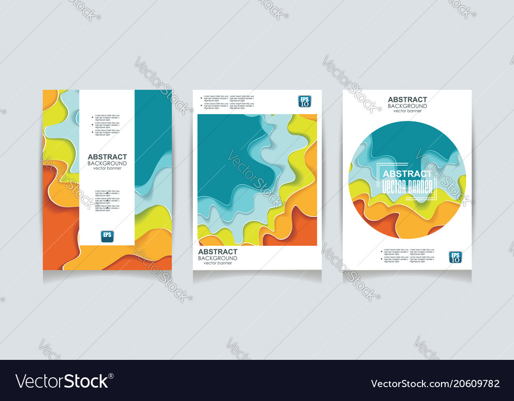 Color design templates for a4 covers banners