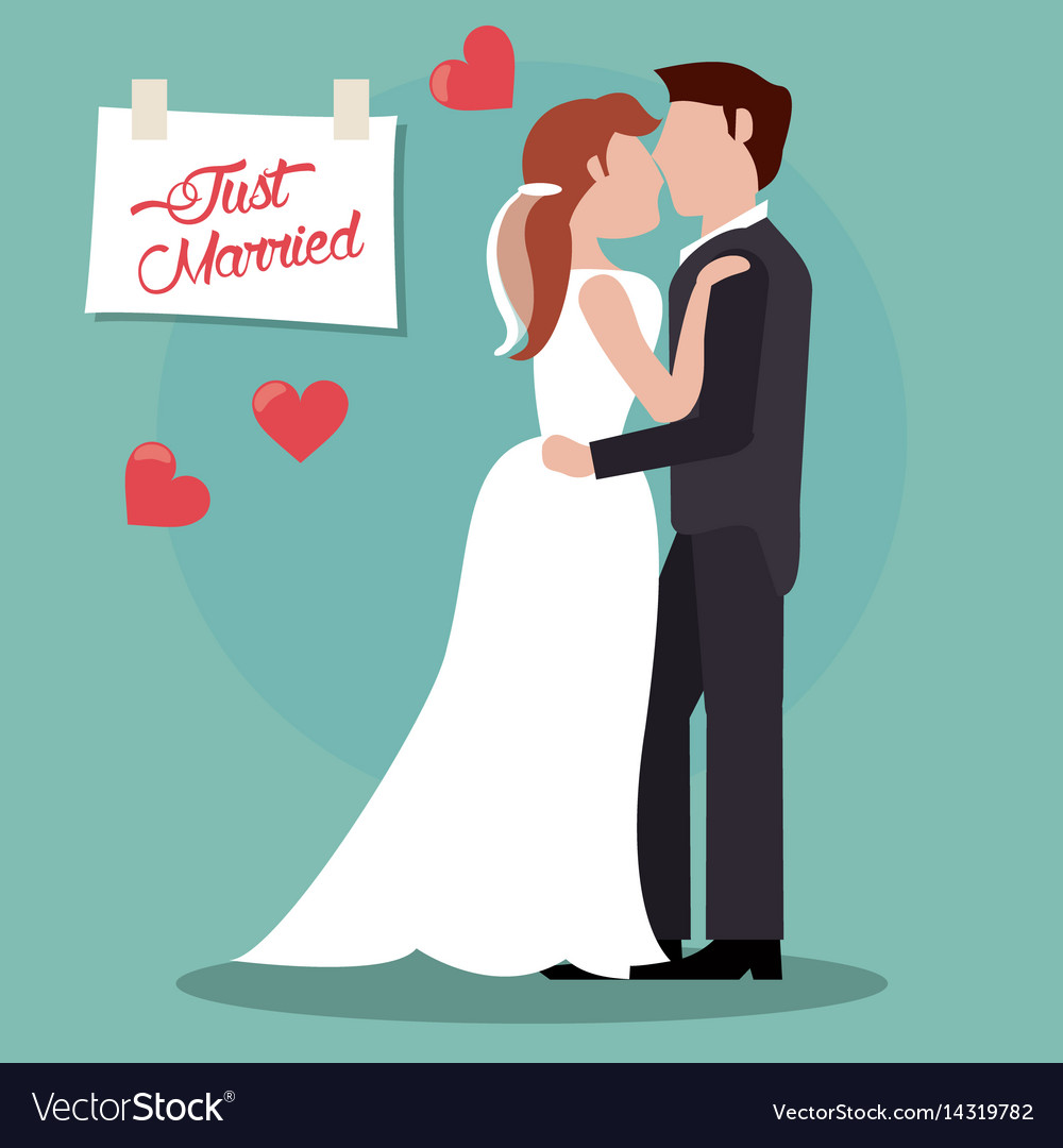 Couple just married together