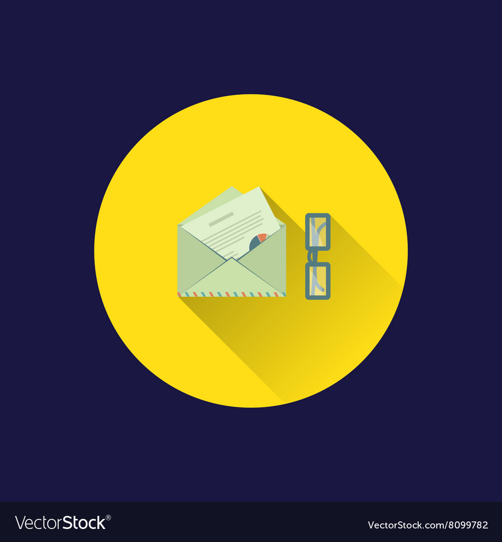 Flat letter icon vector image