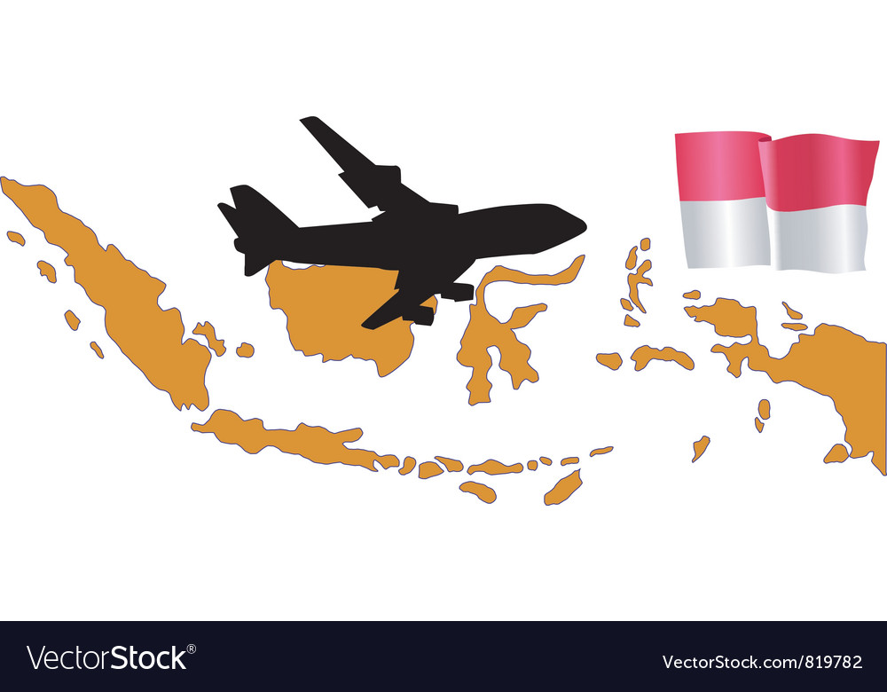 Fly me to the Indonesia vector image