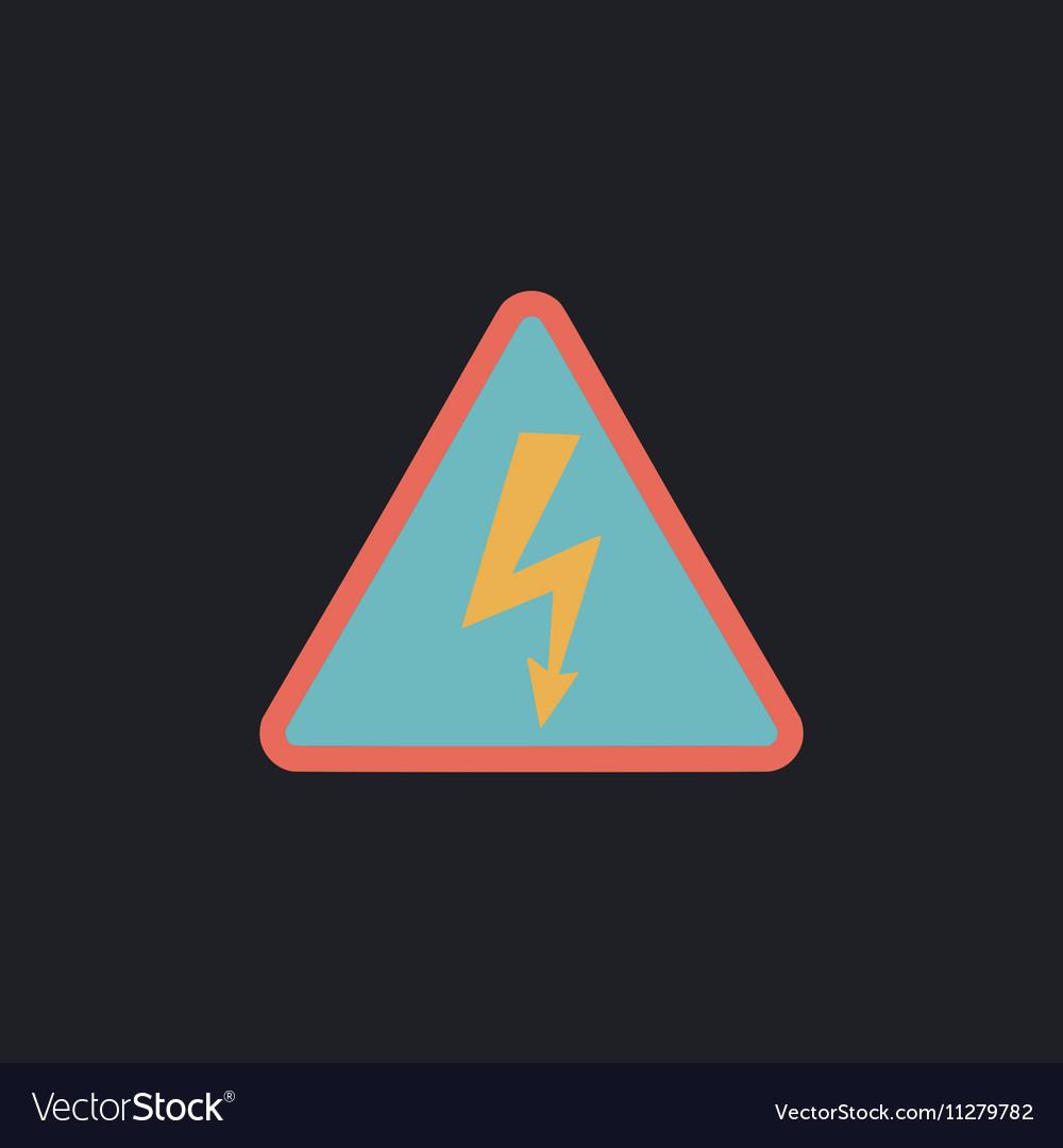 High Voltage Computer Symbol Royalty Free Vector Image