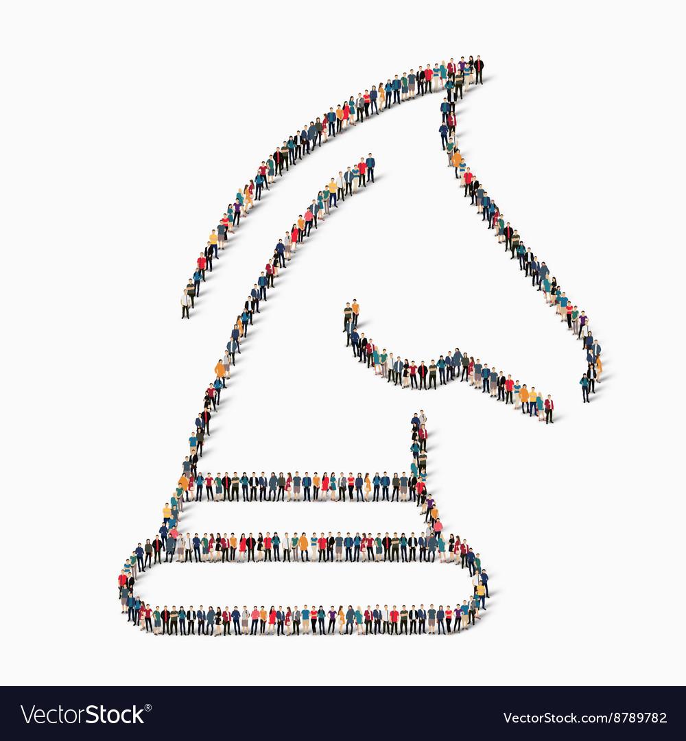 People chess figure icon vector image