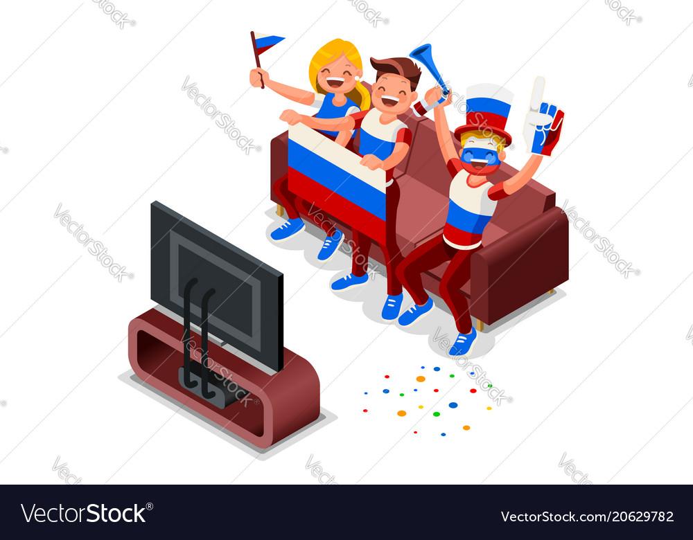 Russia football team flag