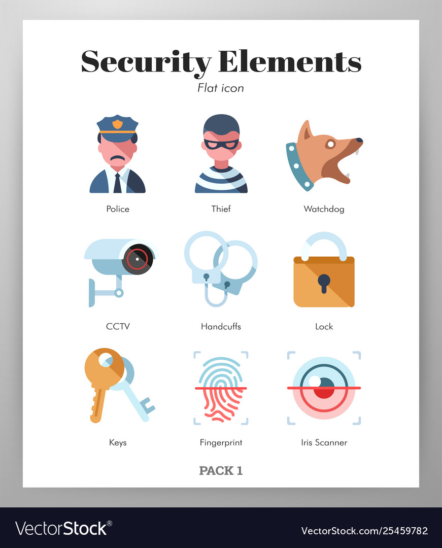 Security elements flat pack