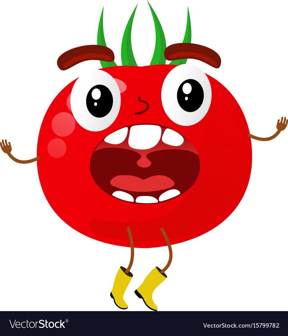 Tomatoes cartoon vector image