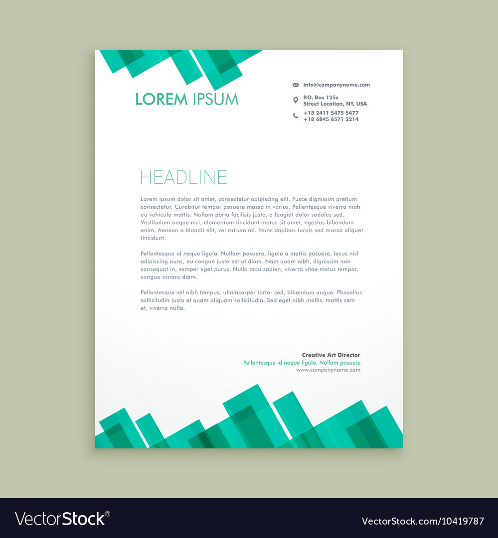 abstract letterhead template royalty free vector image