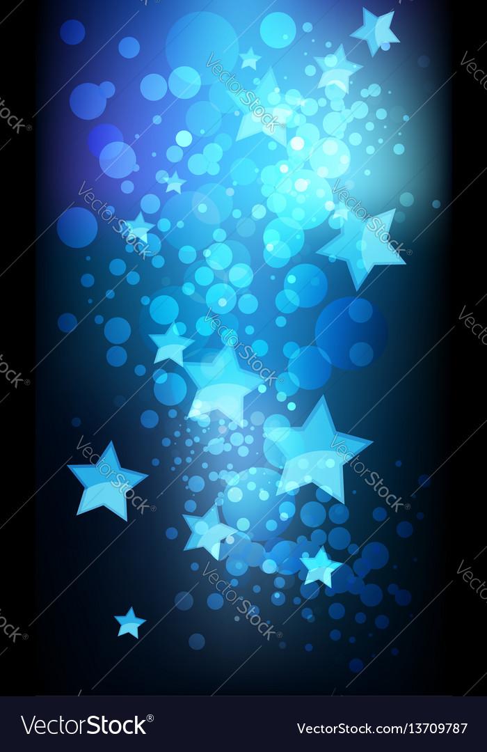 Abstract stars on dark background