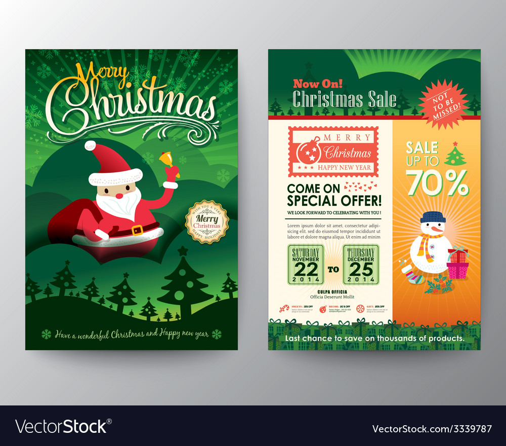 Christmas Flyer.Christmas Sale Brochure Flyer Design Layout