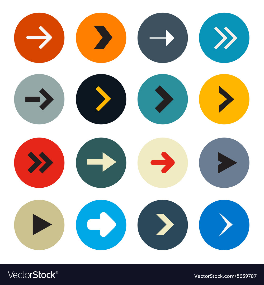 Colorful Circle Arrows Set for Application or Web vector image