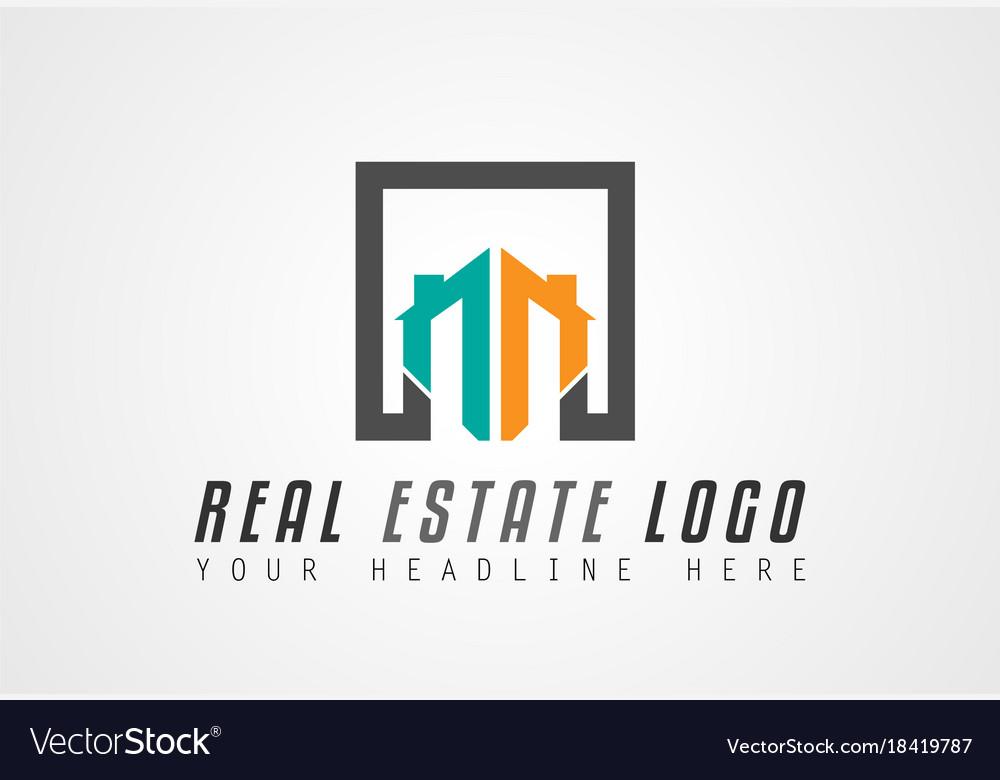 Creative real estate logo design for brand