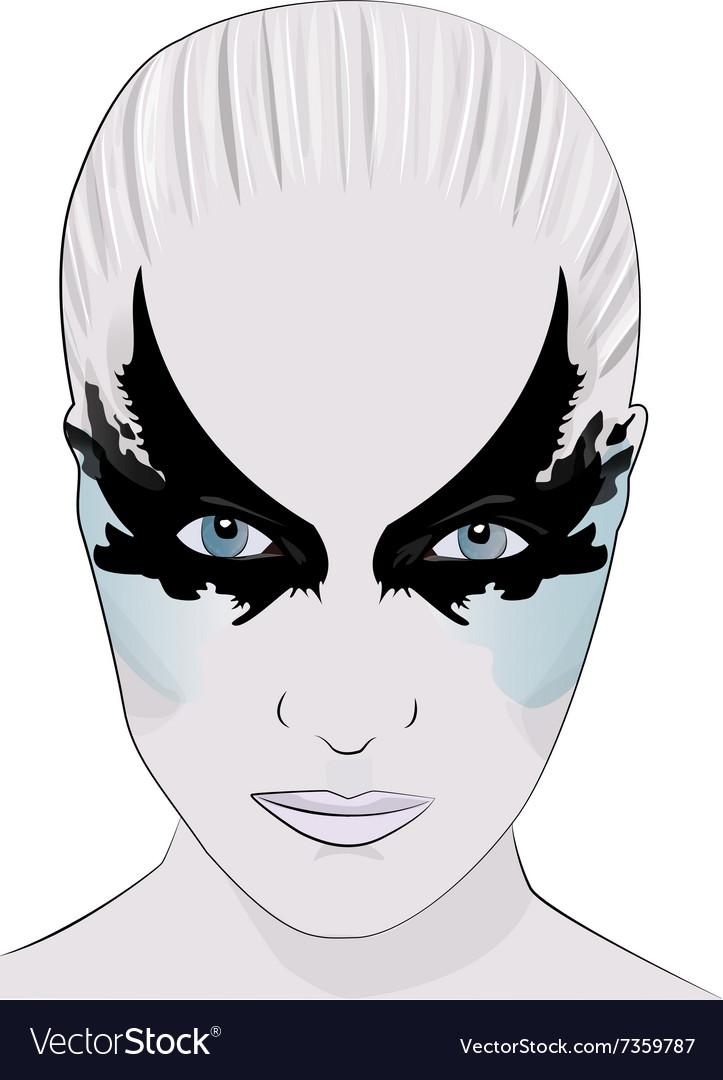 Fashion makeup girl face mask vector image