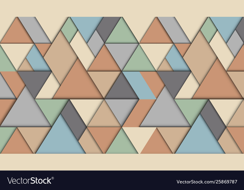 Geometric abstract background with triangles 3d