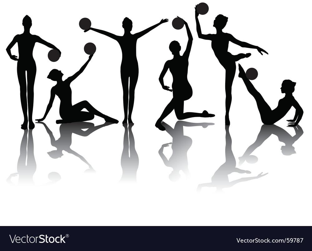 Gymnastic silhouettes