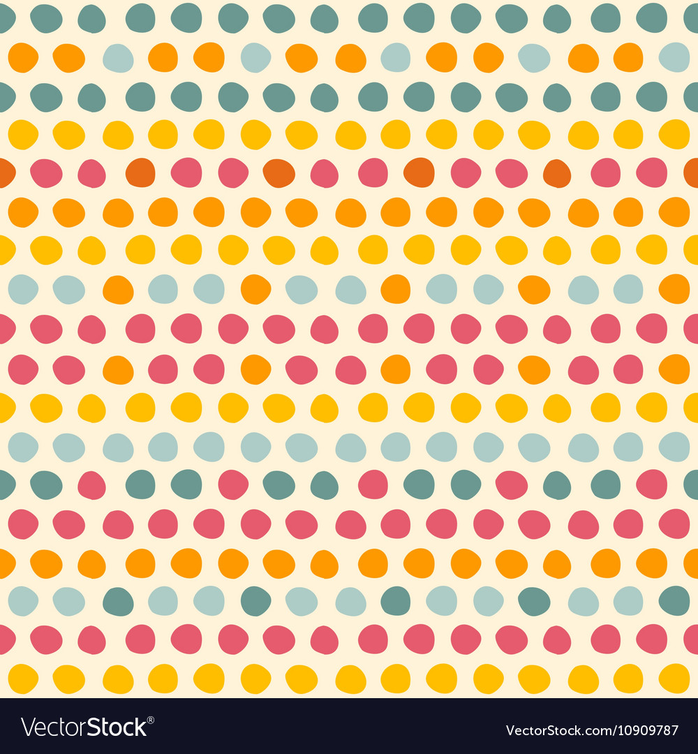 Seamless pattern with Multi-colored circles