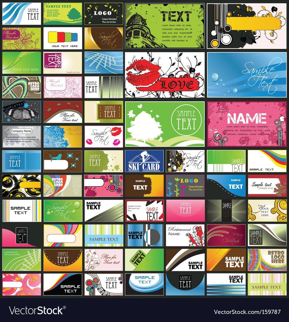 Set of 66 business cards