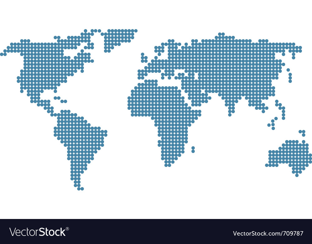 Stylised world map vector image
