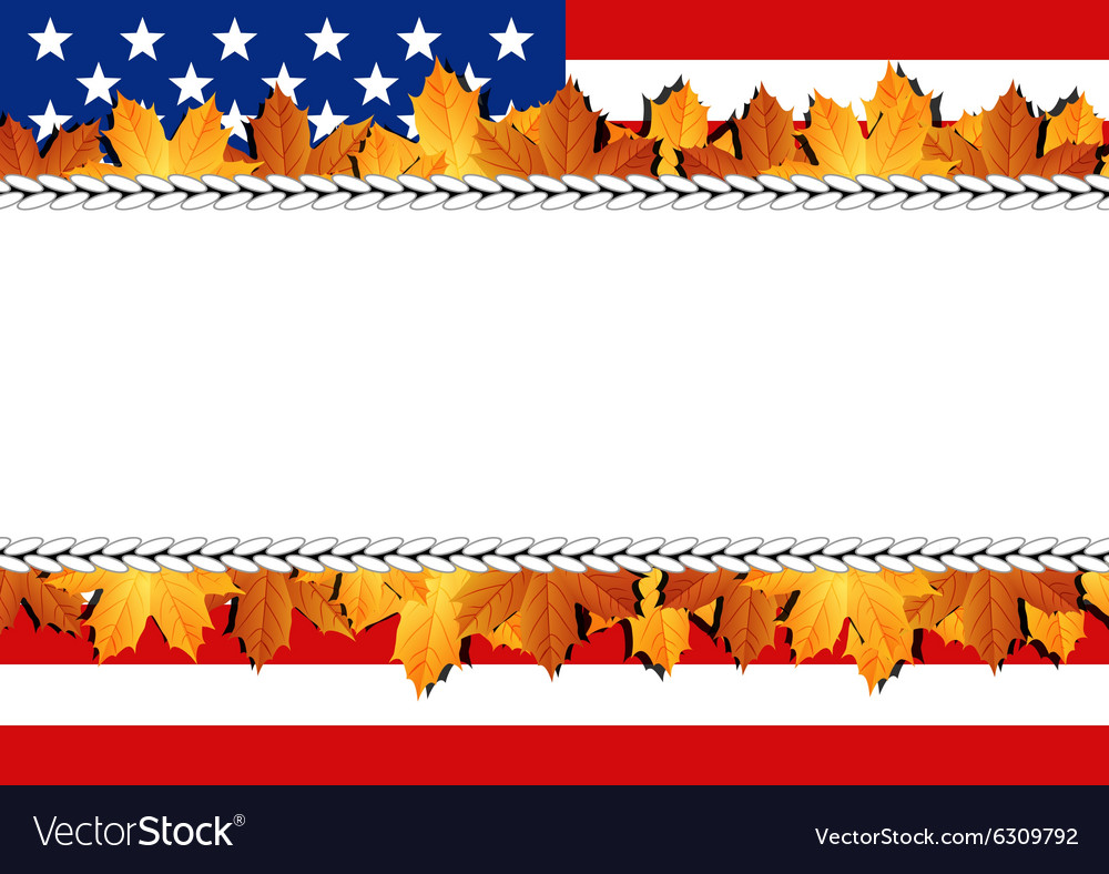 American Flag Banner vector image