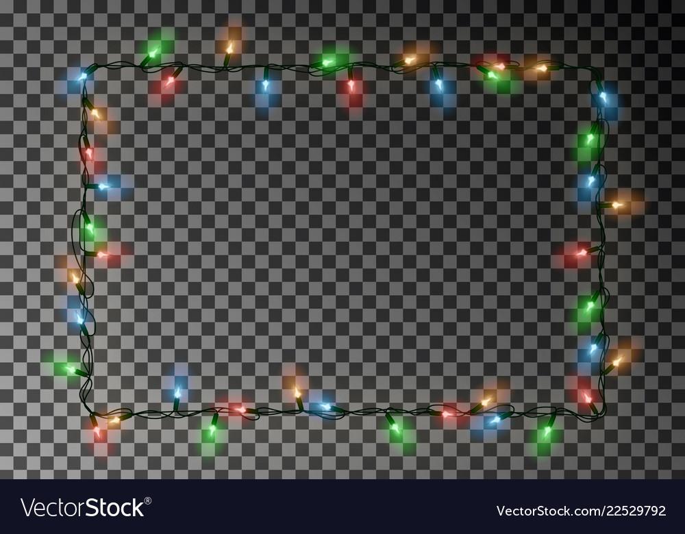 Christmas lights border light string frame