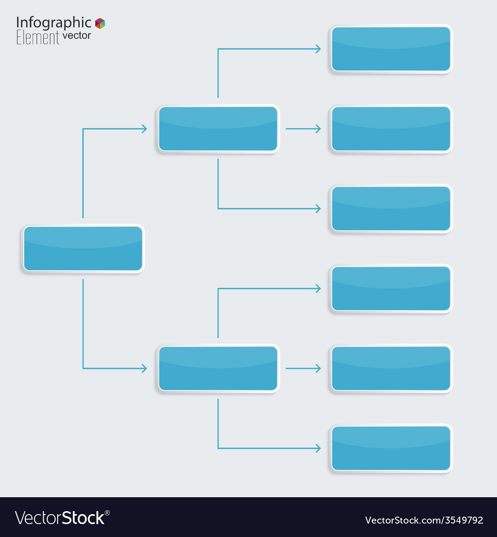 Corporate Organization Chart Template Royalty Free Vector
