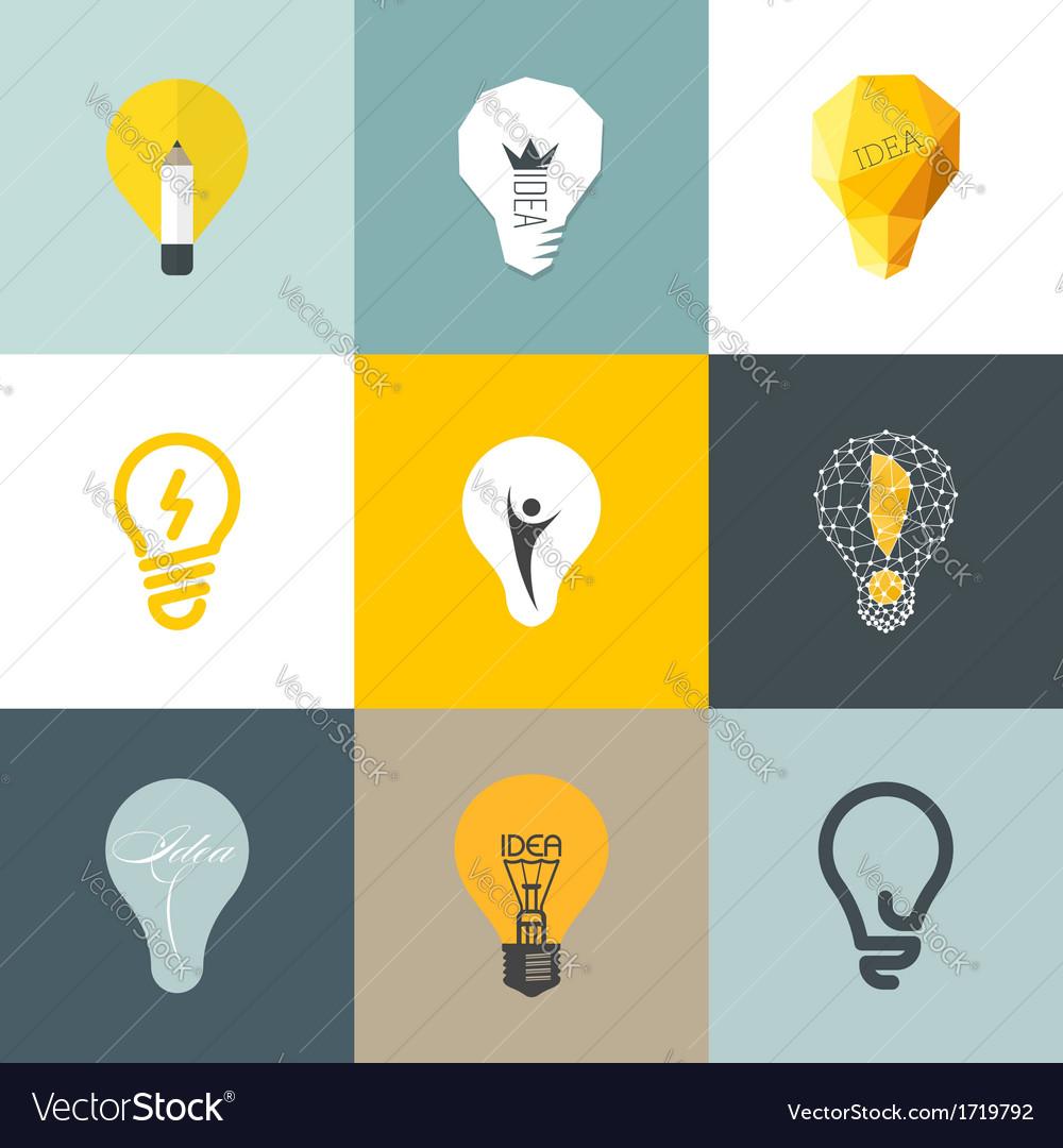 Creative light bulb Set of design elements