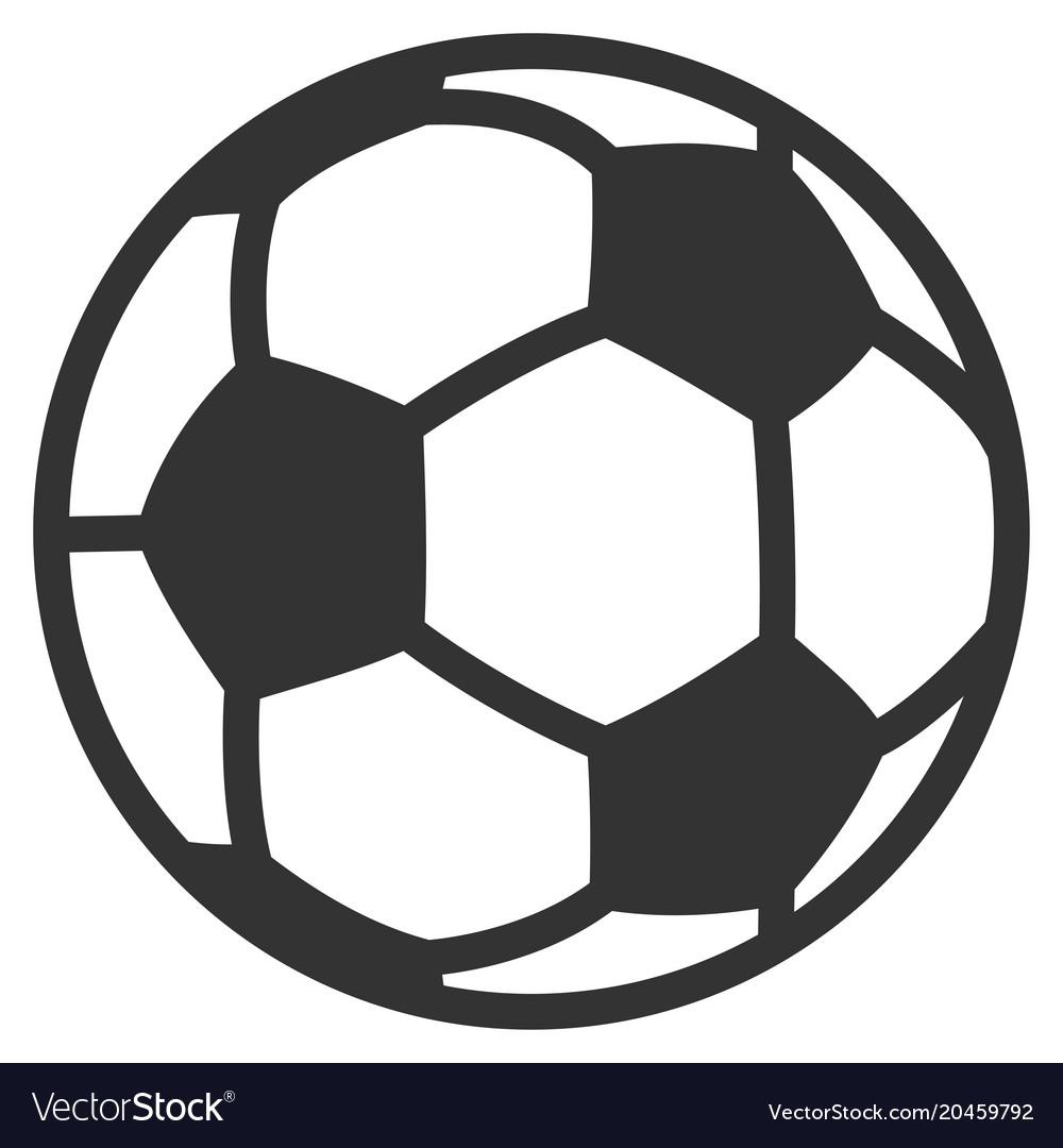 Football Ball Flat Icon Royalty Free Vector Image
