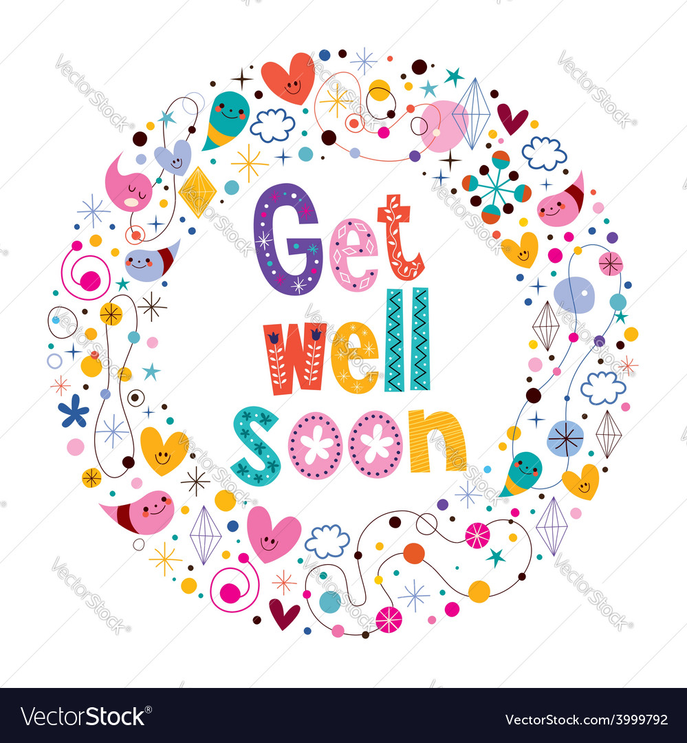 get well soon card 3 royalty free vector image