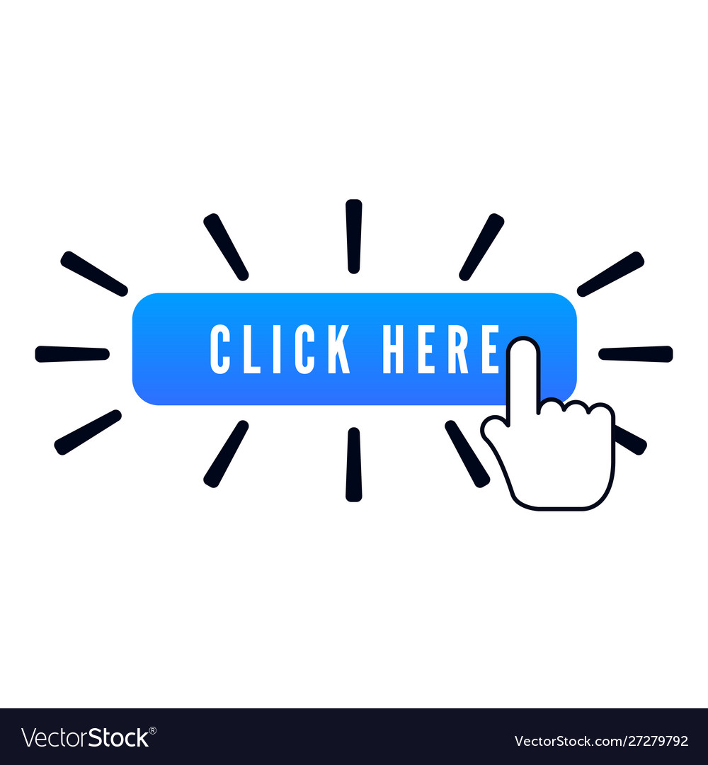 Hand pointer with animation action over blue