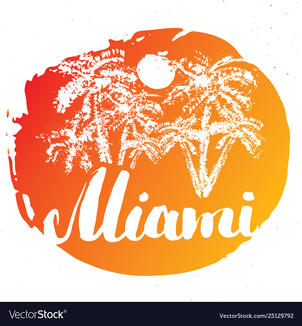 Miami calligraphy lettering handwritten sign hand