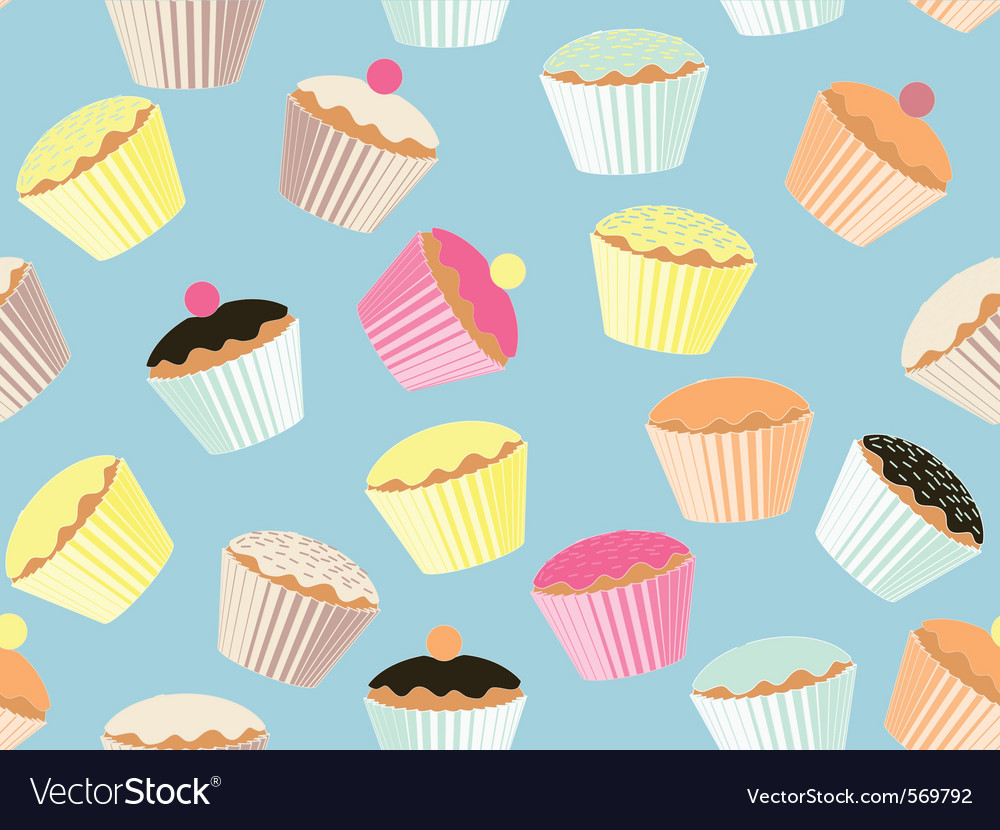 Repeatable cupcake background