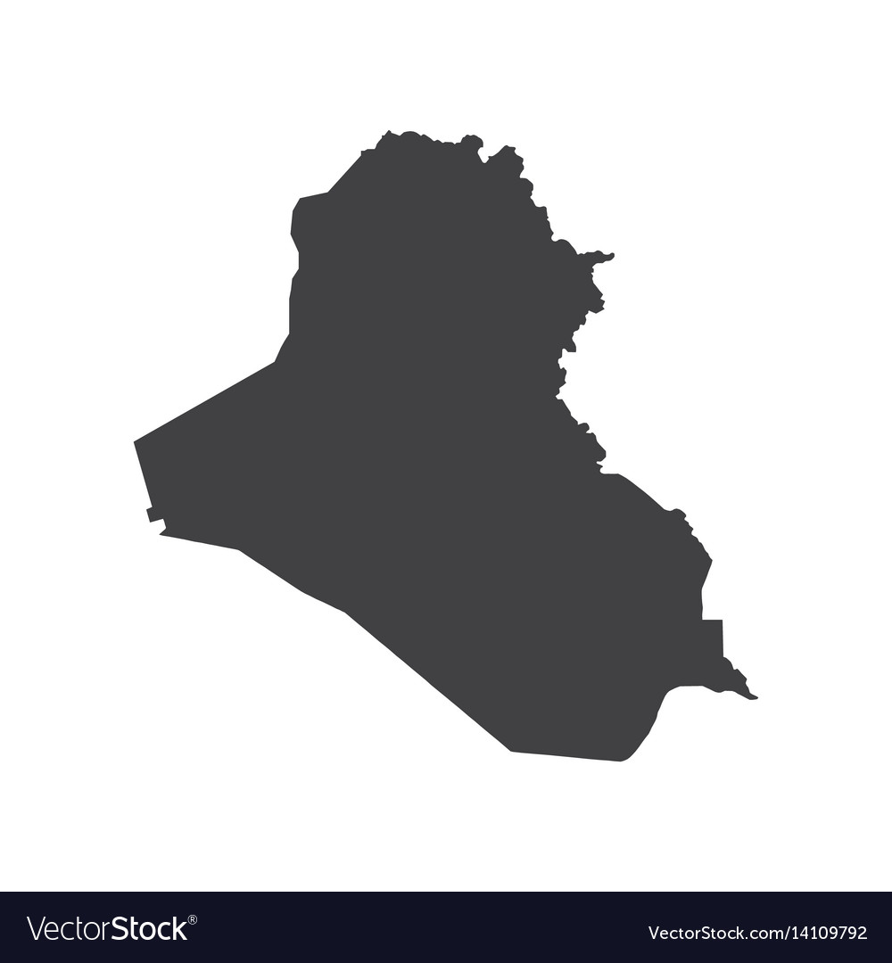 Republic of iraq map silhouette Royalty Free Vector Image