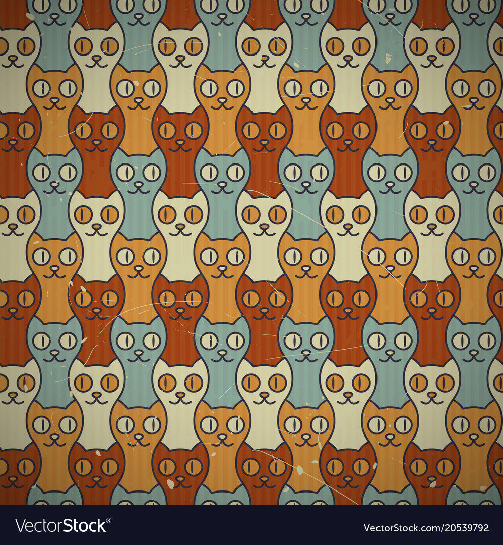 Seamless cats background