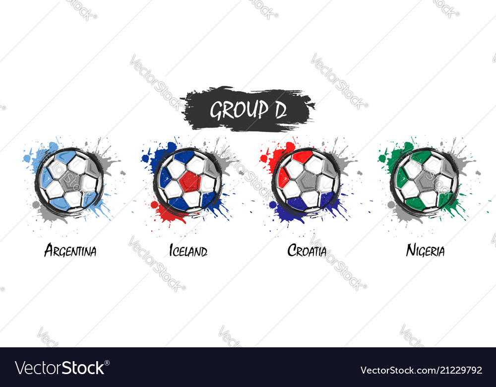 Set of national football team group d