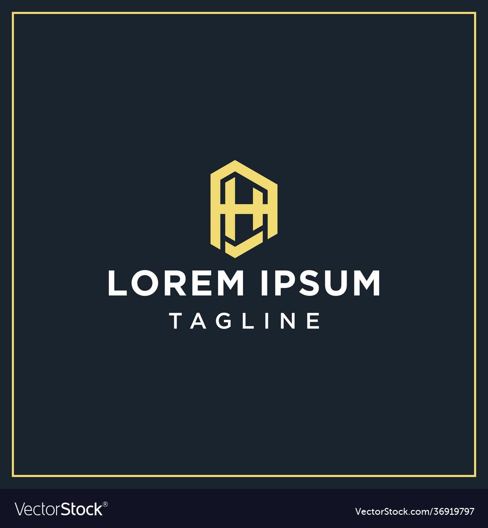 Ah or ha monogram logo