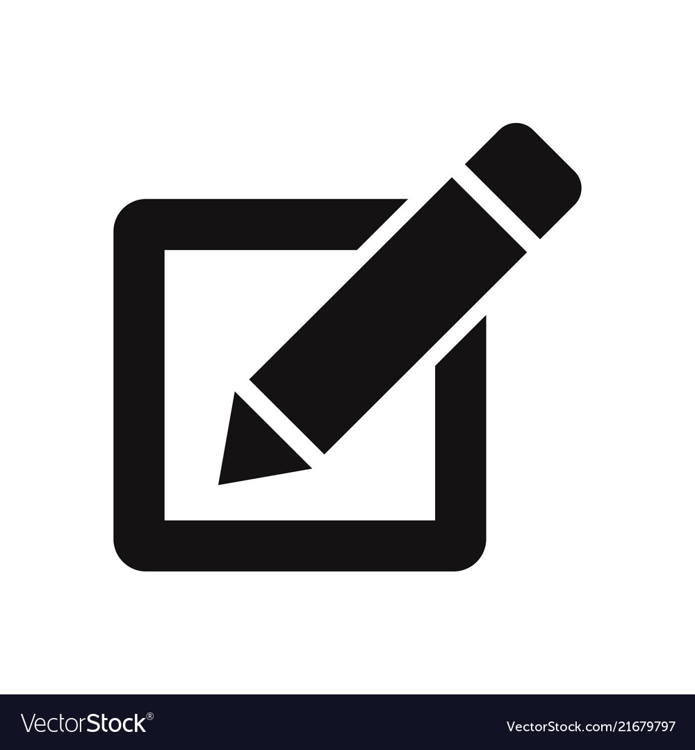 Checkbox with pen icon