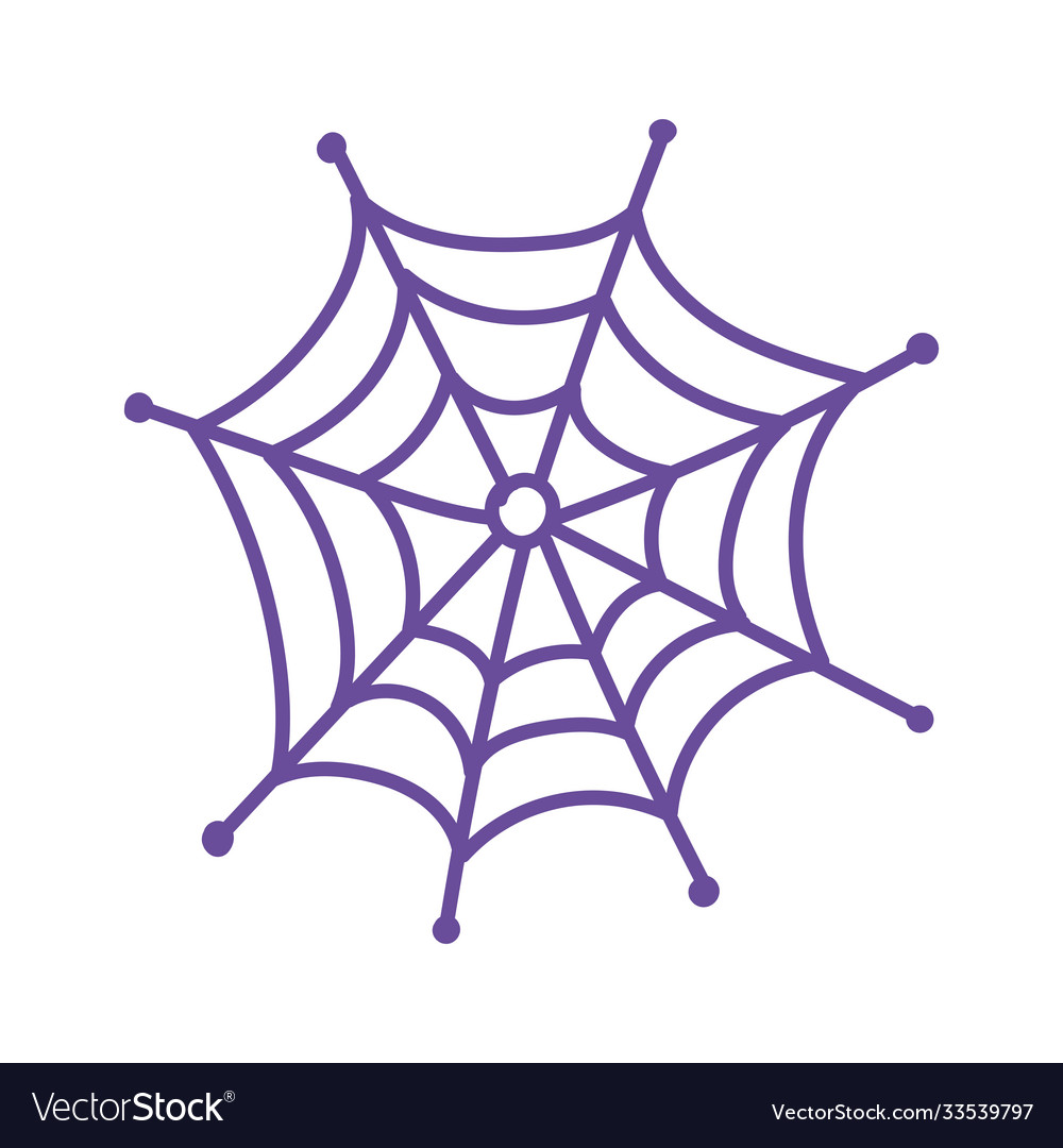 Cobweb spooky horror nature isolated icon design