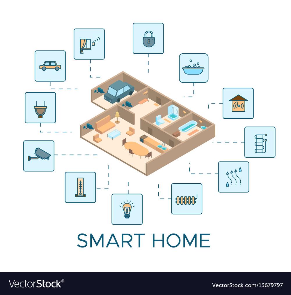 Colorful smart house concept
