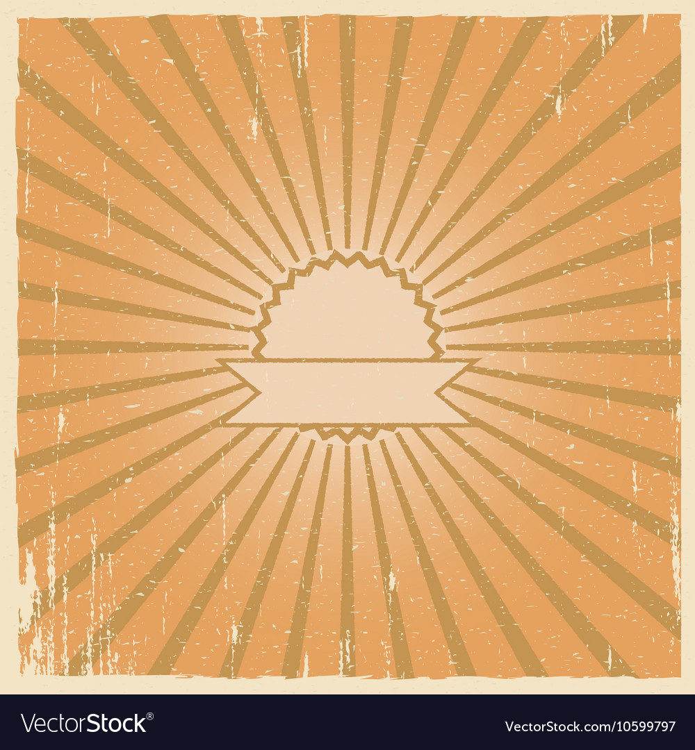 Grunge vintage background retro burst
