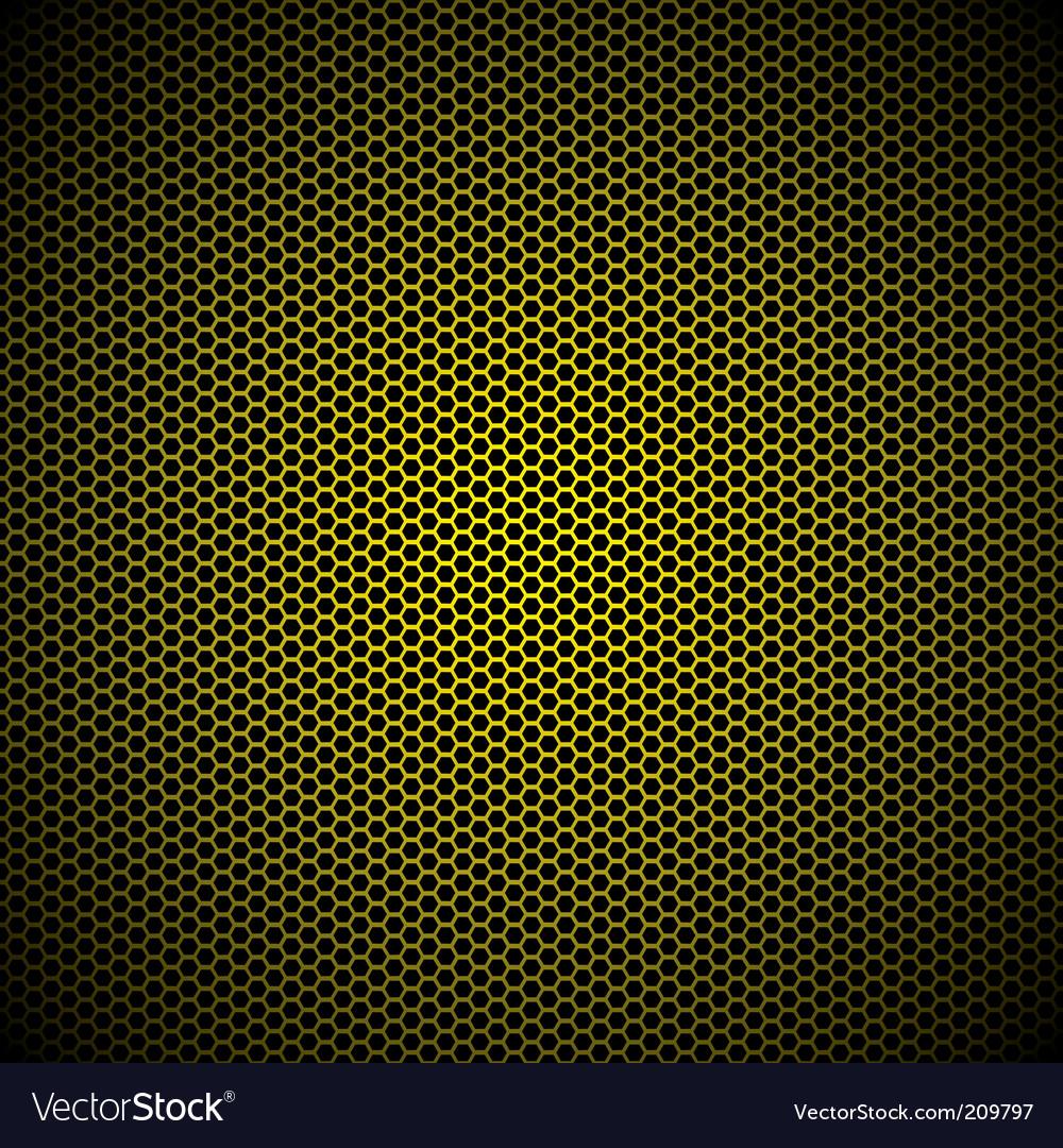 Hexagon gold background vector image