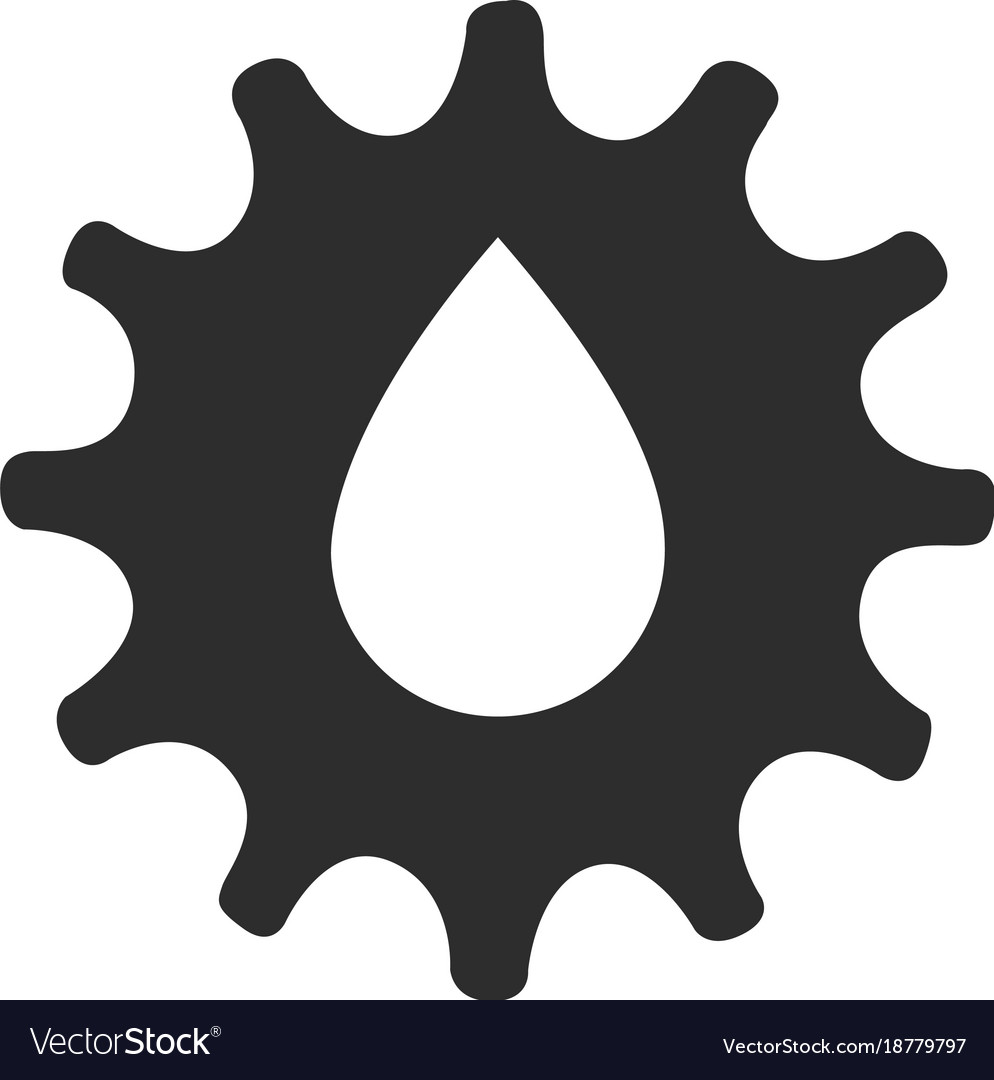 Isolated gear icon