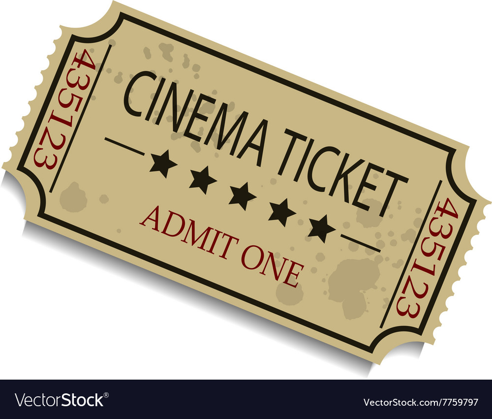 Old vintage paper ticket vector image