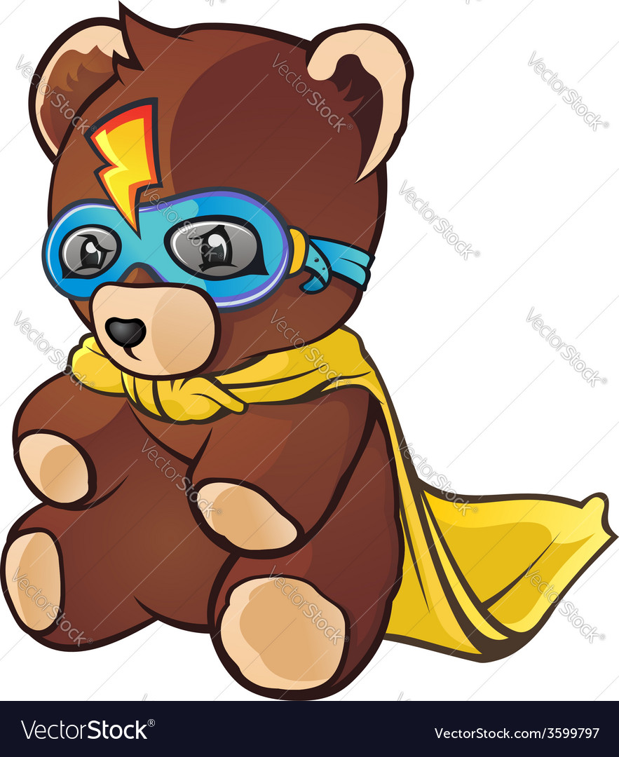 Super Hero Teddy Bear Cartoon Character