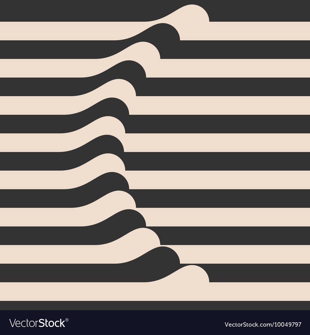 Waved Stripes Vintage Style Background Cover